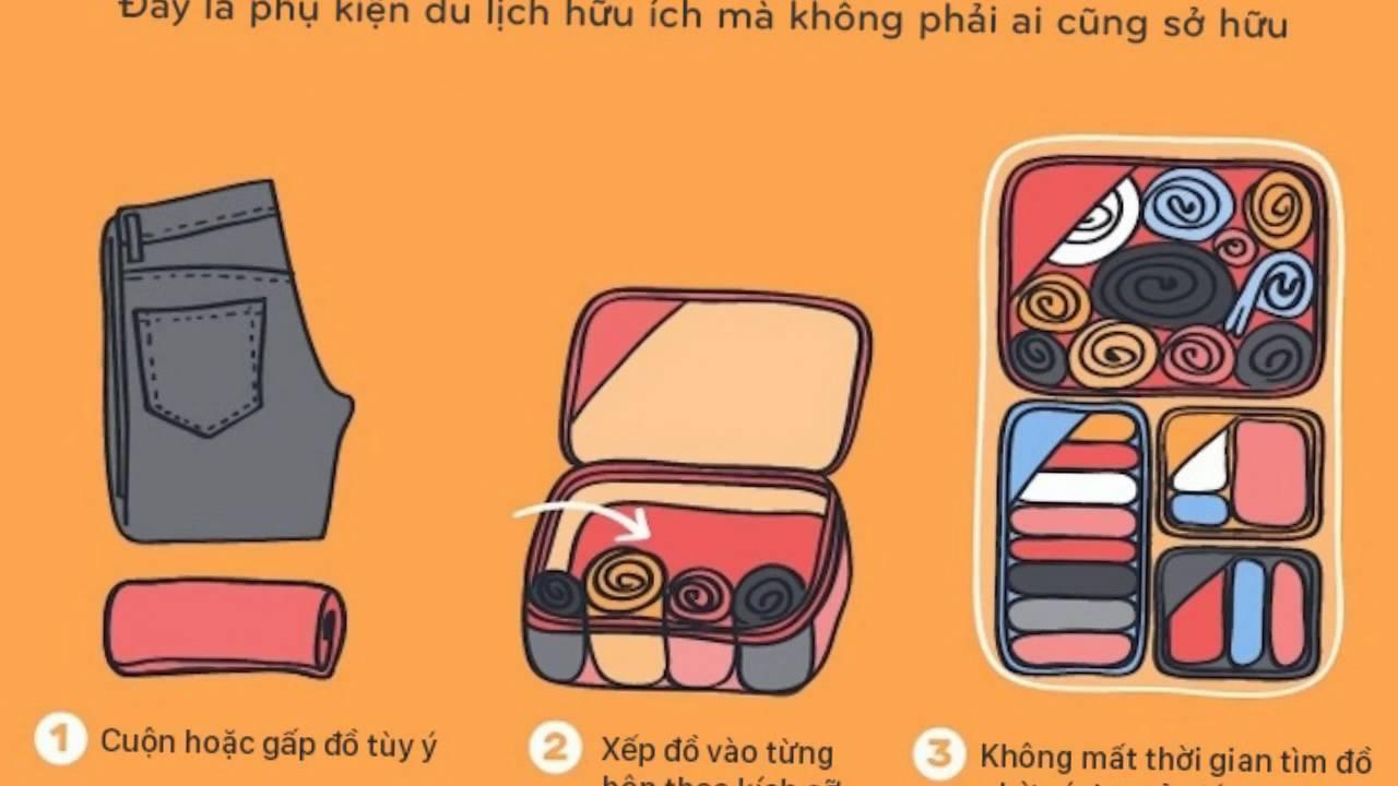 Mẹo xếp đồ vali gọn gàngcho bạn