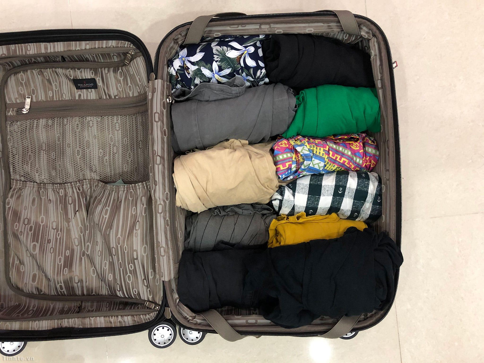 Chia sẻ] So sánh cách xếp đồ dùng vào vali, và giải pháp để tiết kiệm không  gian chứa đồ | Tinh tế